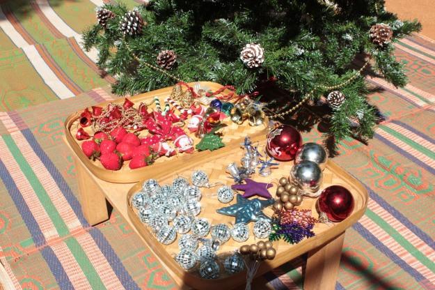 glittering ornaments