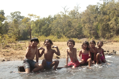 The most loved part of the trip were the many hours we spent at the river ...