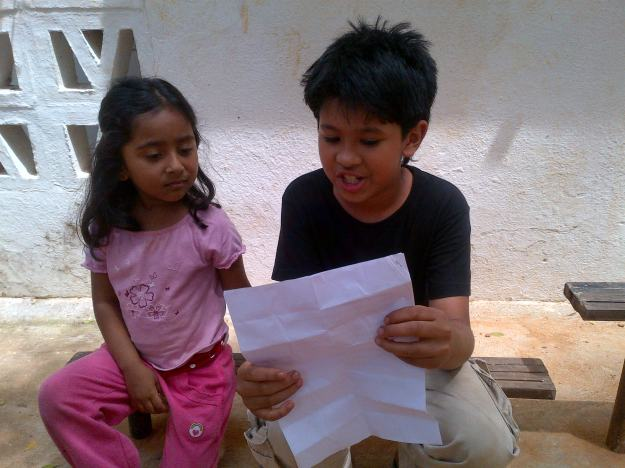quiet sharing of poems